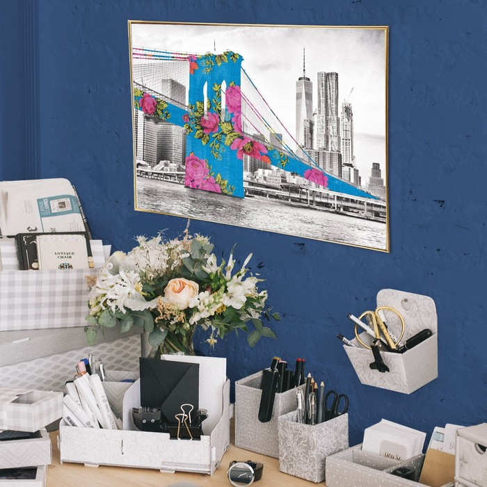 Постер А4 интерьерный «Городской мост», 29 х 21 см