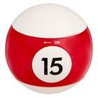 Зажигалка электронная, бильярдный шар, от USB, микс цвета и цифр, 5,5*5,5 см