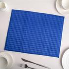 Коврик для сушки посуды 30×40 см, микрофибра, цвет синий - фото 308017178