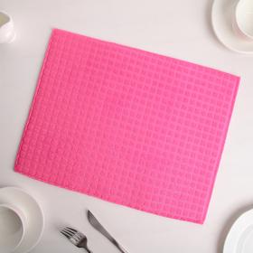 Коврик для сушки посуды 30×40 см, микрофибра, цвет розовый