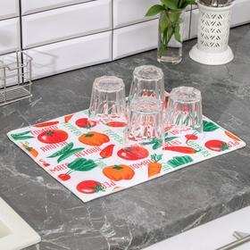 {{photo.Alt || photo.Description || 'Салфетка для сушки посуды Доляна «Овощи», 30×40 см, микрофибра'}}