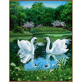Алмазная мозаика «Лебеди», 26 цветов