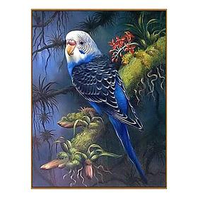 Алмазная мозаика «Волнистый попугайчик в тропиках», 23 цвета