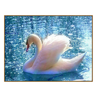"""Алмазная мозаика """"Лебедь"""", 33 цвета"""
