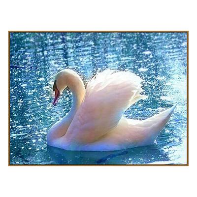 Алмазная мозаика «Лебедь», 33 цвета