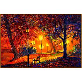 Алмазная мозаика «Осенний сквер», 33 цвета