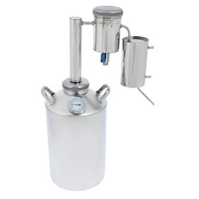 Дистиллятор «Лидер-3», 12 л, большой разборный сухопарник со сливом, термометр