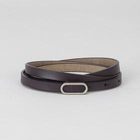 Ремень женский, гладкий, пряжка матовый металл, ширина - 1 см, цвет фиолетовый