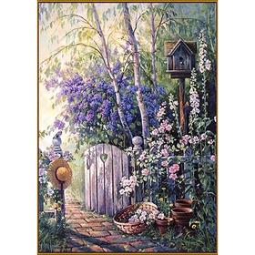 Алмазная мозаика «Заветная калитка», 35 цветов