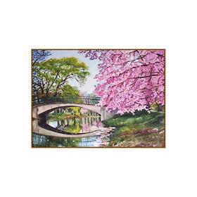Алмазная мозаика «Сакура цветет», 24 цвета