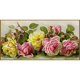 Алмазная мозаика «Винтажные розы», 39 цветов