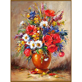 Алмазная мозаика «Весенний букет», 37 цветов
