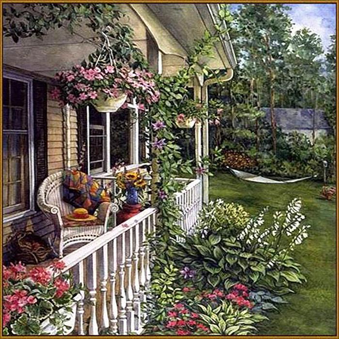 """Алмазная мозаика """"Летний сад"""", 35 цветов"""