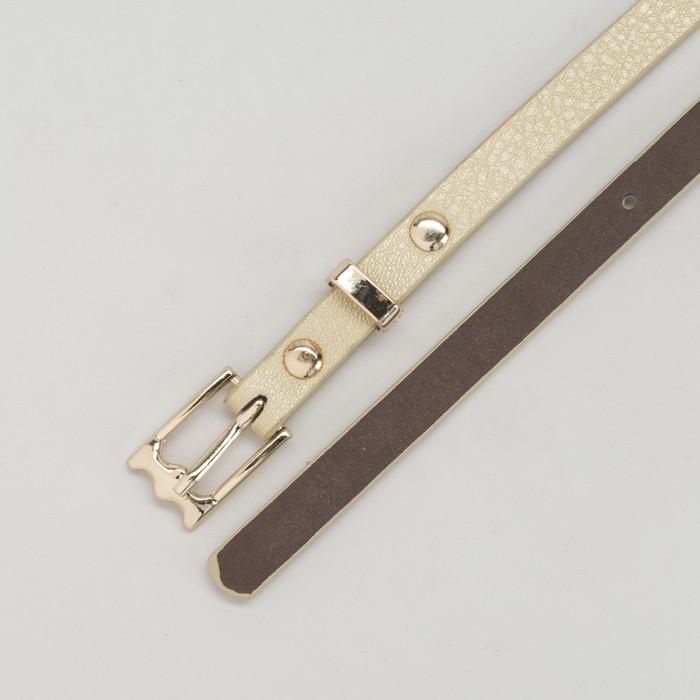 Ремень женский, пряжка и хомут золото, ширина - 0,8 см, цвет золотой