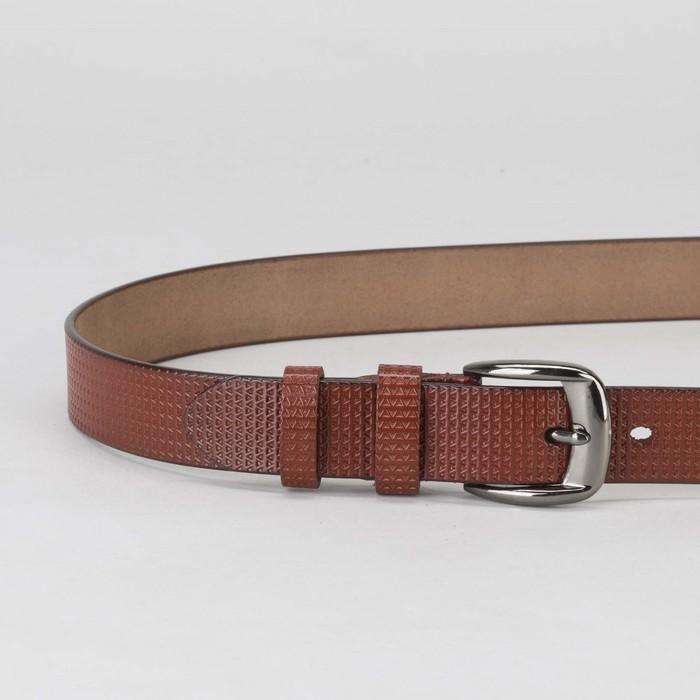 Ремень женский, пряжка металл, ширина - 2,7 см, цвет бордовый