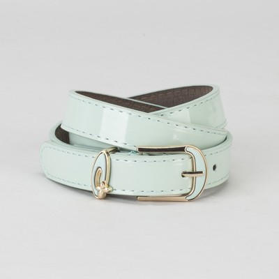 Women's belt smooth buckle and a collar of gold, width - 2.2 cm, color mint