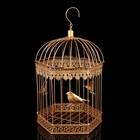 """Клетка шестиугольная """"Птицы"""", 40х23см, золотистая"""