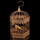 """Клетка шестиугольная """"Птицы"""", 18х30см, золотистая"""