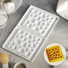 """Форма для муссовых десертов и выпечки двойная 30×17,5 см """"Стоун"""", цвет белый"""