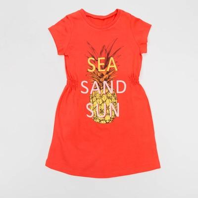 Платье для девочки, рост 98 см, цвет персиковый Л907-3958