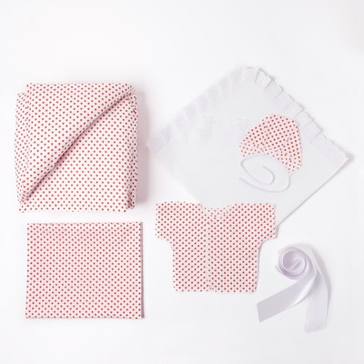 Комплект на выписку для девочки (7 предметов), цвет розовый 1503Пд_М