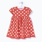 Платье для девочки, рост 80 см, цвет горох на персиковом Л365_М