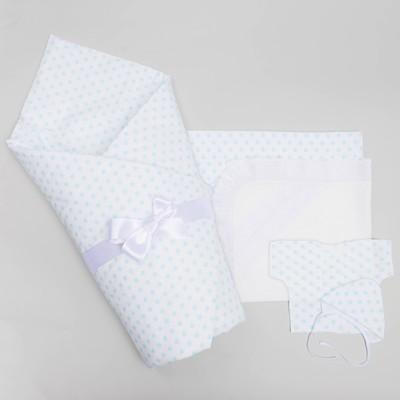 Комплект на выписку для мальчика (7 предметов), цвет белый 1503Пд_М