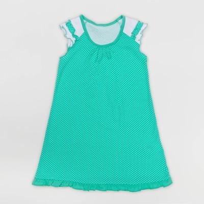 Платье для девочки, рост 92 см, цвет набивка микс на ментоле Л366_М