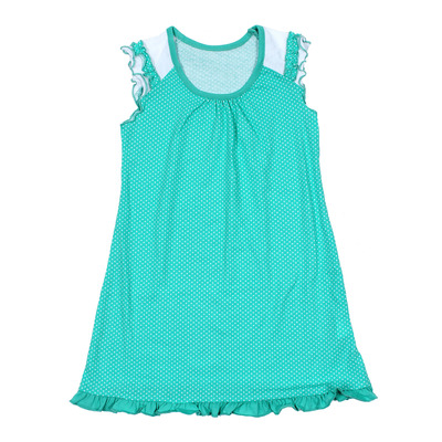 Платье для девочки, рост 104 см, цвет набивка микс на ментоле Л366