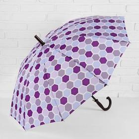 Зонт - трость полуавтоматический, 10 спиц, R = 51 см, цвет фиолетовый Ош