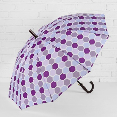 "Umbrella semi-automatic ""Piano"", 10 spokes, R = 51 cm, colour purple"