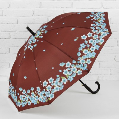 "Umbrella semi-automatic ""the dance of the Sakura"", 10 spokes, R = 51 cm, brown"