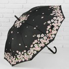 """Umbrella semi-automatic """"the dance of the Sakura"""", 10 spokes, R = 51 cm, black"""