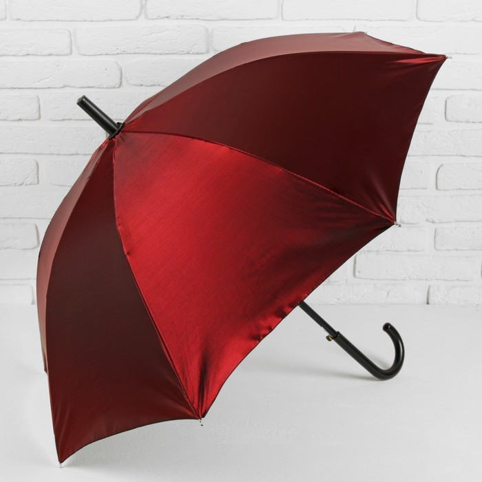 Зонт полуавтоматический «Хамелеон», 8 спиц, R = 49 см, цвет бордовый