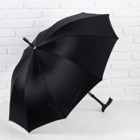 Зонт полуавтоматический, трость, R=51см, цвет чёрный Ош