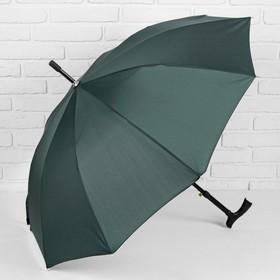 Зонт полуавтоматический, трость, R=51см, цвет зелёный Ош
