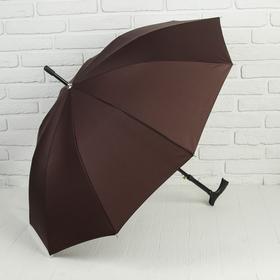 Зонт полуавтоматический, трость, R=51см, цвет коричневый Ош