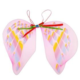 Карнавальные крылья «Ангел», для детей, с узорами, цвет розовый в Донецке