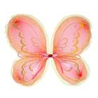 """Карнавальные крылья """"Бабочка"""" с узорами, цвет красный"""