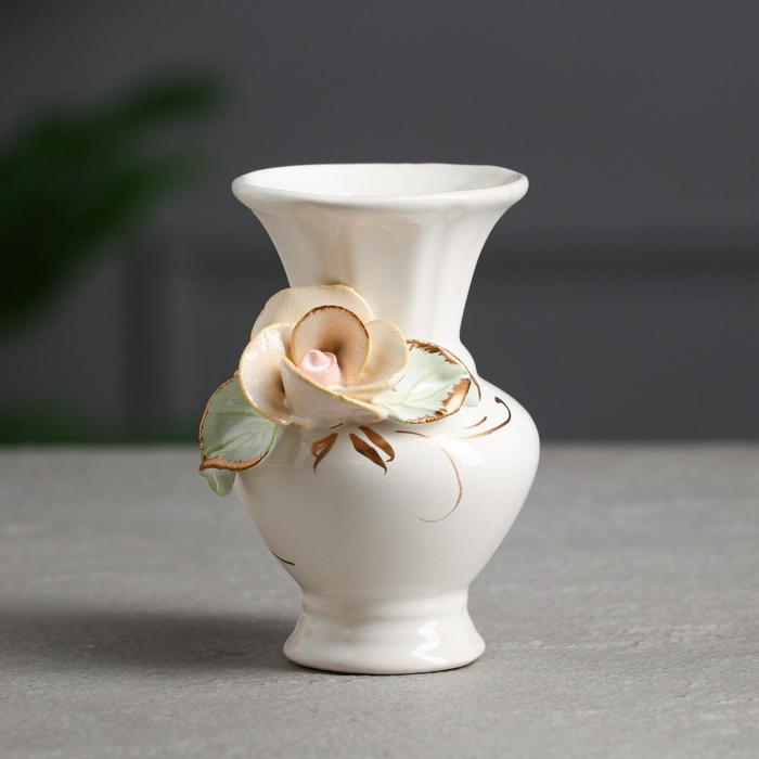"""Ваза настольная """"Миниатюрка"""", керамика, лепка цветная, цветы, 13 см, микс"""