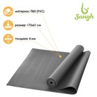 Коврик для йоги 173х61х0,4 см, цвет серый