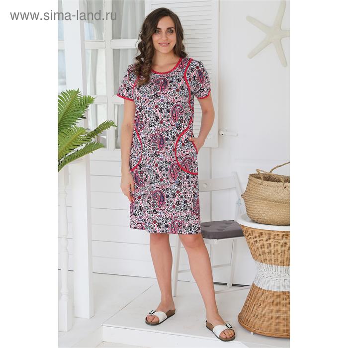 Платье женское Фая цвет малиновый, р-р 58