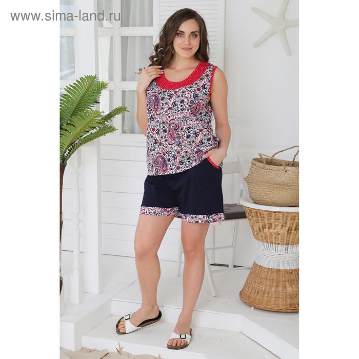 Комплект женский (майка, шорты) Фая-2 цвет малиновый, р-р 50