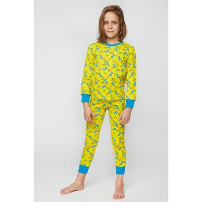 Пижама для девочки I MY DOG, цвет жёлтый МИКС, рост 98 см