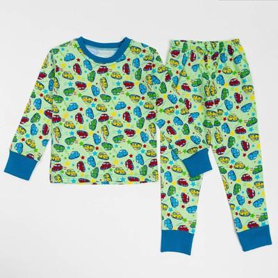Пижама для девочки ЗВЕЗДЫ, рост 92 см, цвет светло-зелёный микс