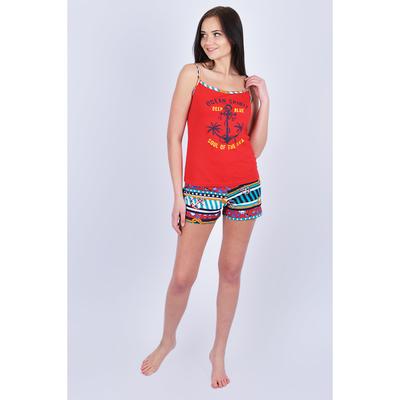 Комплект женский (майка, шорты) 205ХР1572П цвет красный, р-р 48