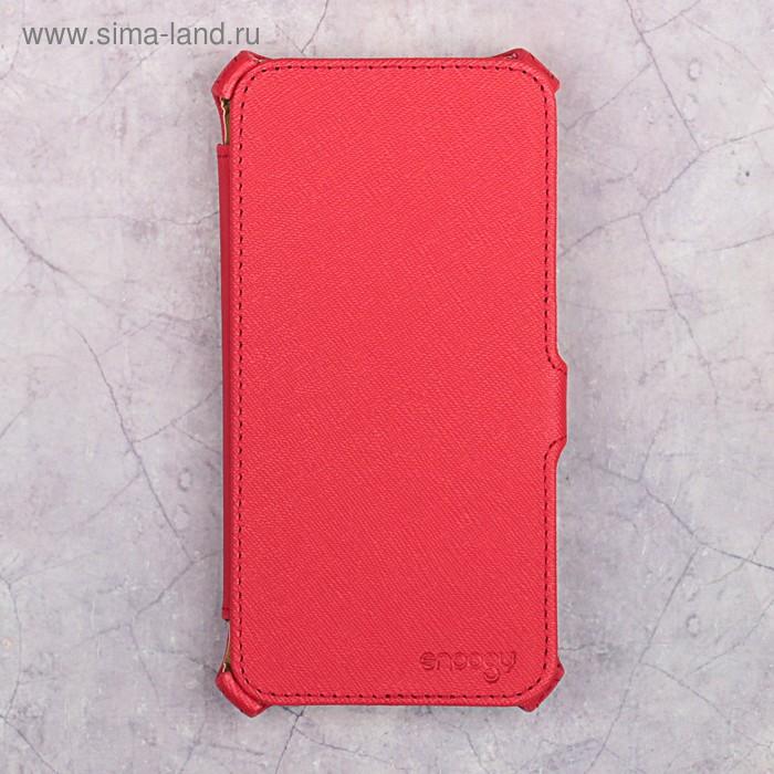 Чехол-книжка Snoogy для Xiaomi Redmi 4А, иск. кожа, Красный