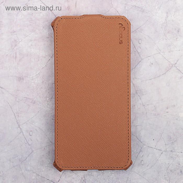 Чехол-флип Snoogy для Xiaomi Redmi Note 5A, иск. кожа, Коричневый