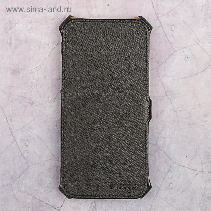 Чехол-книжка Snoogy для iPhone 7, иск. кожа, Черный