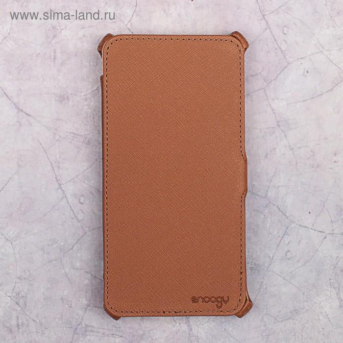 Чехол-книжка Snoogy для Xiaomi Redmi Note 4X, иск. кожа, Коричневый